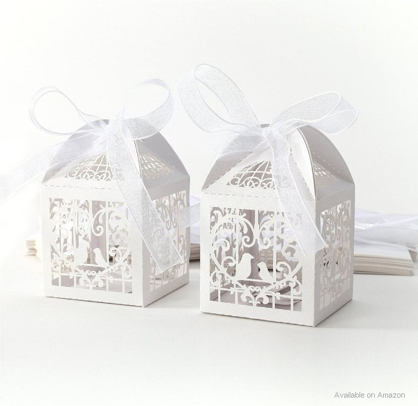 Wedding candy boxes as table decorations or favors