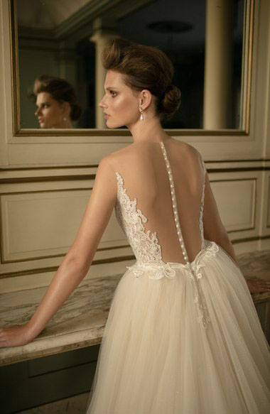Nordstrom Beaded Lace and Tulle Ball Gown