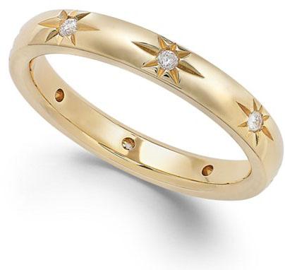 Macys Diamond Star Wedding Band