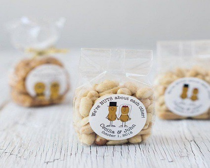 beau-coup Personalized Bags of Nuts