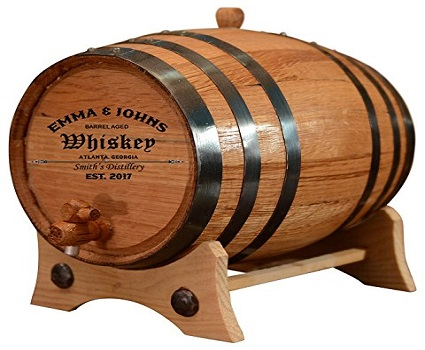 Amazon Personalized Whiskey Barrel