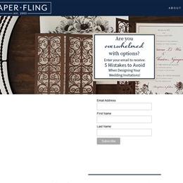 Paper Fling photo