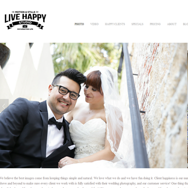 Live Happy Studio wedding vendor preview