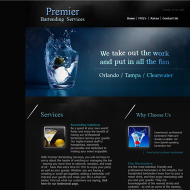 Premier Bartending Services wedding vendor preview