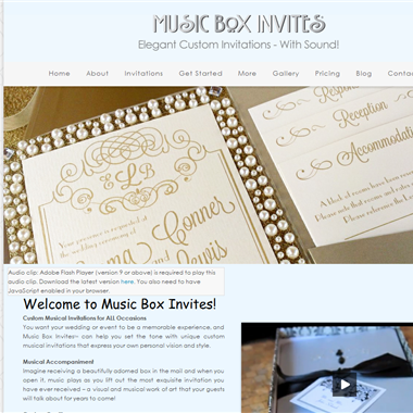Music Box Invites wedding vendor preview