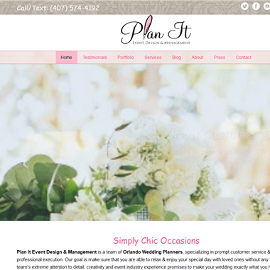 Plan It Event Design wedding vendor preview
