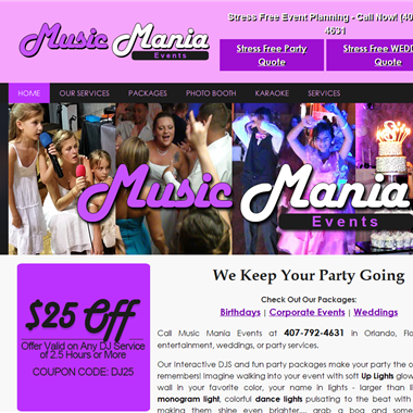 Music Mania Events wedding vendor preview