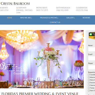Crystal Ballroom Orlando wedding vendor preview