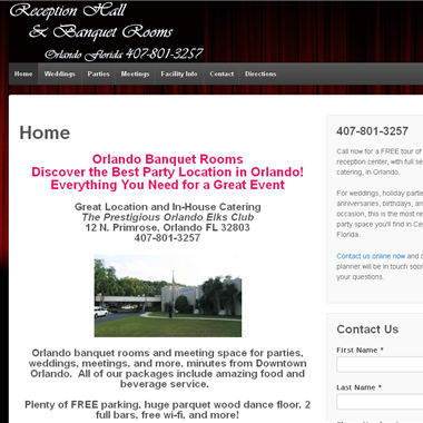 Banquet Room Orlando wedding vendor preview