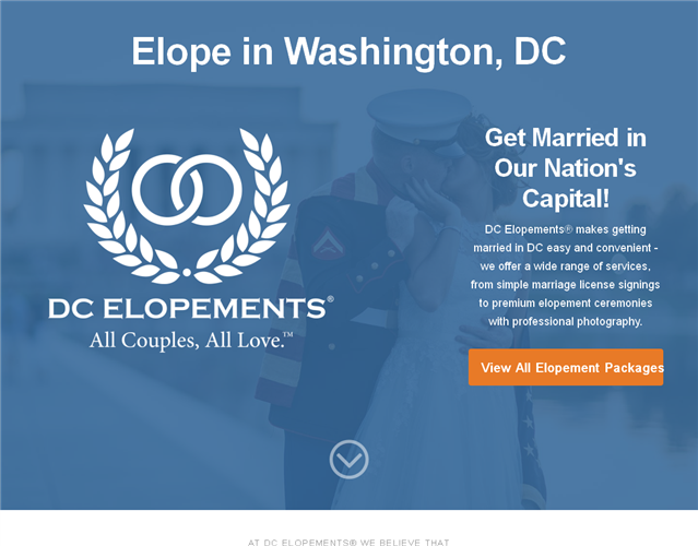 DC Elopements wedding vendor photo