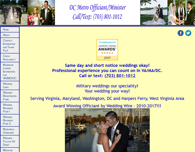 DC Metro Wedding Officiant wedding vendor photo