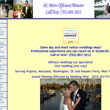 DC Metro Wedding Officiant wedding vendor preview