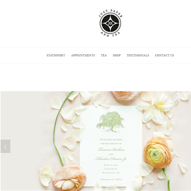 Just Paper and Tea wedding vendor preview