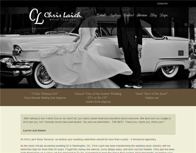 Chris Laich wedding vendor photo