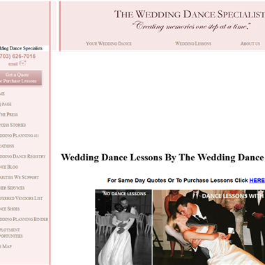 The Wedding Dance Specialists wedding vendor preview