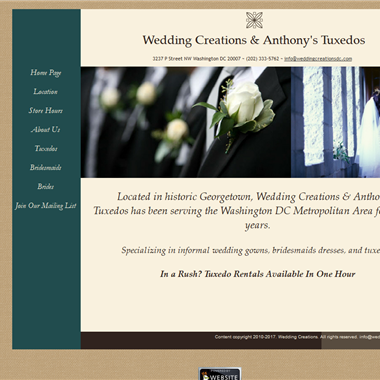 Wedding Creations DC wedding vendor preview