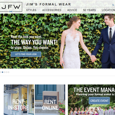 Jim's Formal Wear wedding vendor preview
