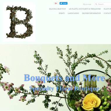 Bouquets and More Florist wedding vendor preview