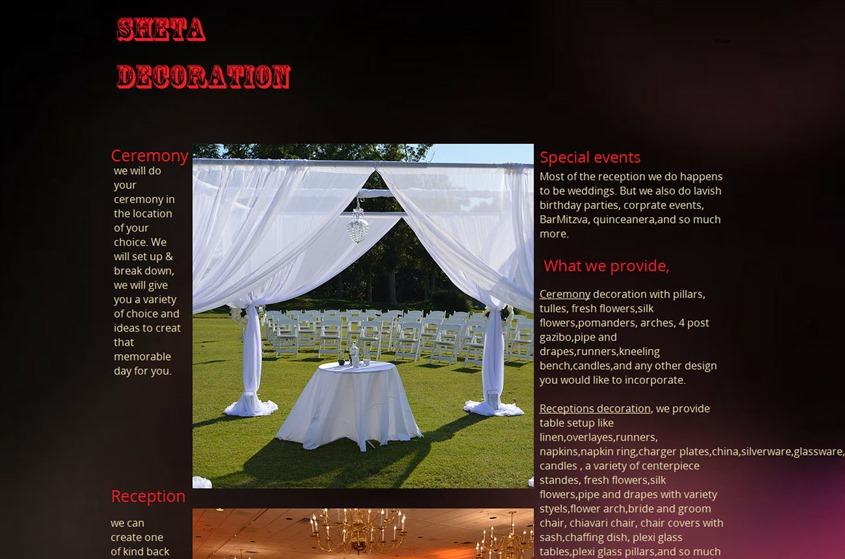 Sheta Decoration wedding vendor photo
