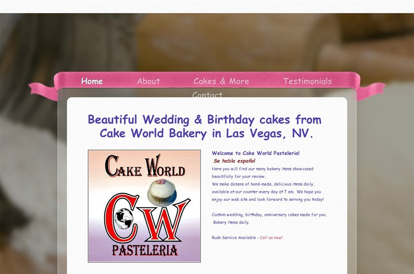 Cake World Bakery Las Vegas wedding cake