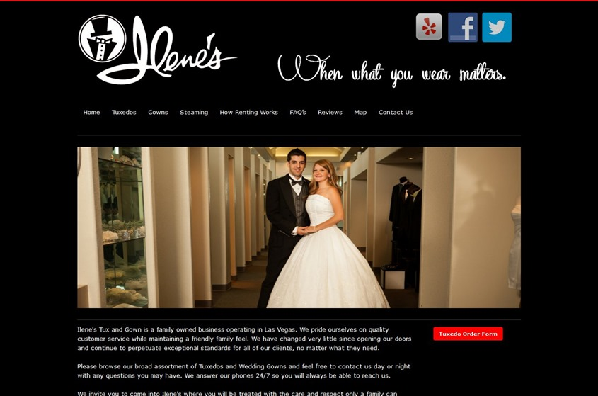 Ilenes Tux and Gown - Las Vegas wedding tuxedos and suits