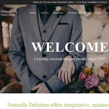 Naturally Delicious wedding vendor preview