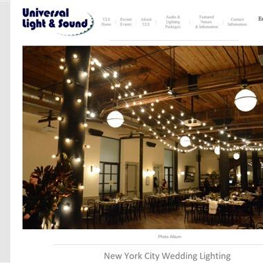 Universal Light and Sound wedding vendor preview