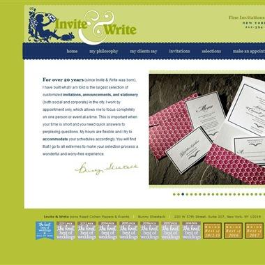 Invite & Write wedding vendor preview