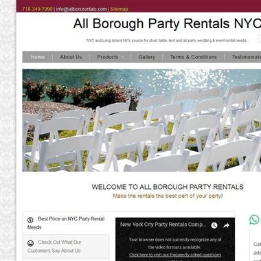 All Borough Party Rentals wedding vendor preview