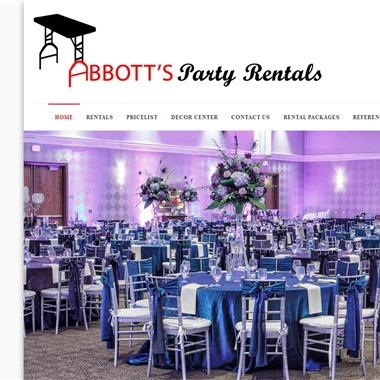 Abbott Party Rental wedding vendor preview