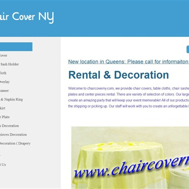 Chair Cover NY wedding vendor preview