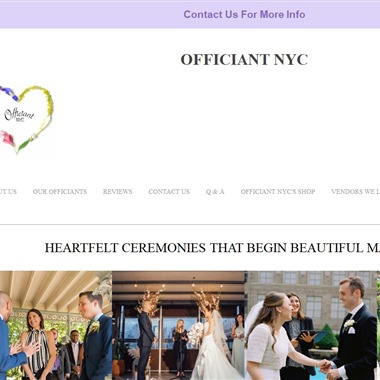 Officiant NYC wedding vendor preview