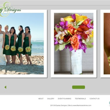 Easley Designs wedding vendor preview