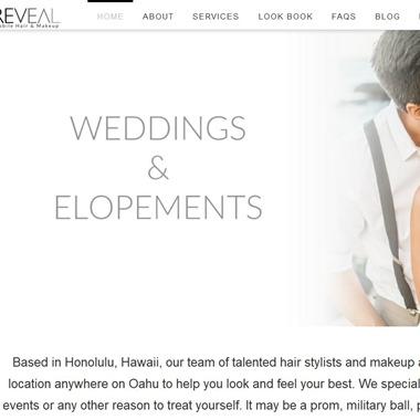 Reveal Hair & Makeup wedding vendor preview