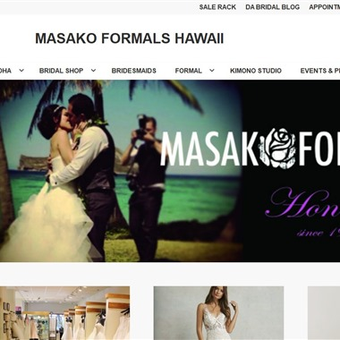 Masako Formals wedding vendor preview