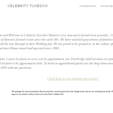 Celebrity Tuxedos wedding vendor preview