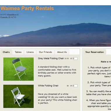 Waimea Party Rentals wedding vendor preview