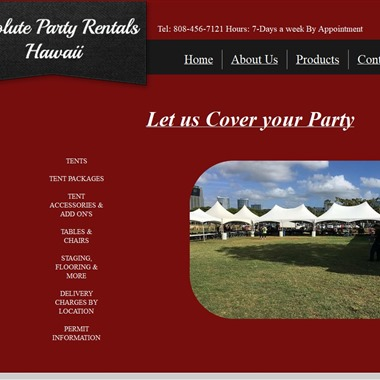 Absolute Rentals wedding vendor preview
