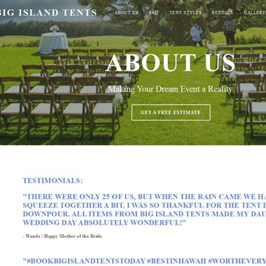 Big Island Tents wedding vendor preview