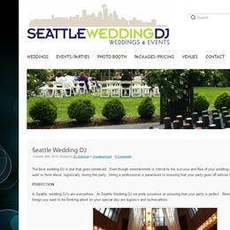 Seattle Wedding DJ photo