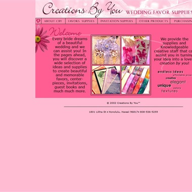 Creations By You wedding vendor preview