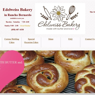 Edelweiss Bakery wedding vendor preview