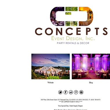 Concepts Event Design wedding vendor preview