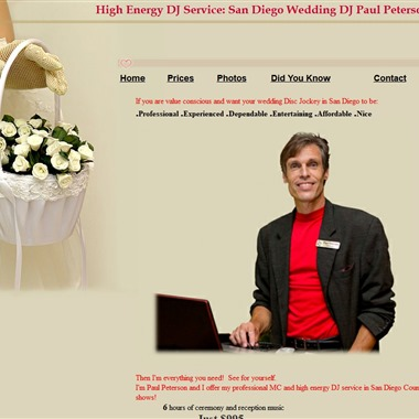 High Energy DJ Services wedding vendor preview