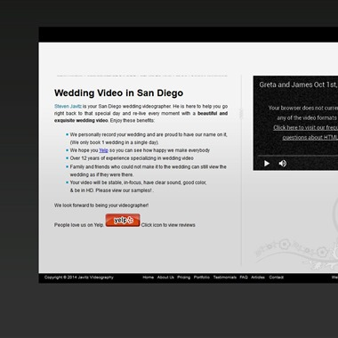 Javitz Video wedding vendor preview