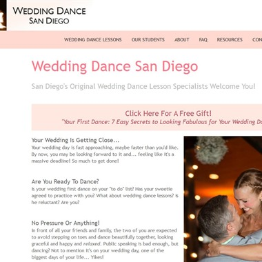 Wedding Dance San Diego wedding vendor preview