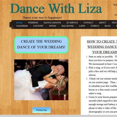 Dance With Liza wedding vendor preview