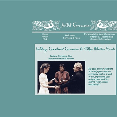 Artful Ceremonies wedding vendor preview