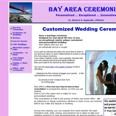Bay Area Ceremonies wedding vendor preview