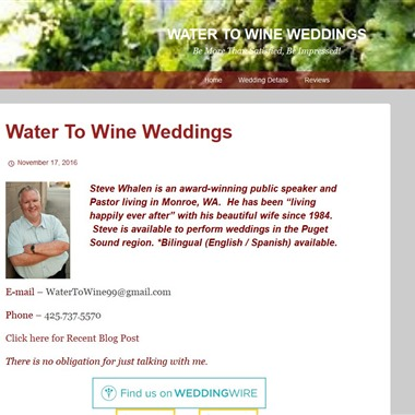 Water To Wine Weddings wedding vendor preview